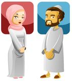 Muslim Couple 1. Illustration of a Muslim man and woman Royalty Free Illustration