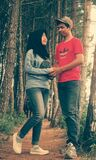 Muslim couple meet in forest