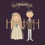 Muslim Couple. You can using this image to your wedding invitation royalty free illustration