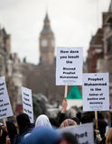 Muslim demo, London, UK Stock Photography