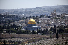 Mount of Olives View - Dome of the Rock Stock Photo