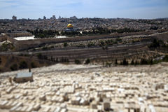 Dome of the Rock & Jewish Cemetery Royalty Free Stock Images