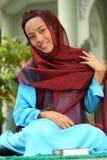muslim för fitriflickaidul royaltyfri fotografi