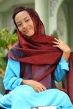 muslim för leid för alfitrgir Arkivfoto