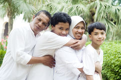 Muslim family Royalty Free Stock Photography