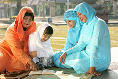 Muslim Family Stock Photography