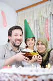 Muslim family birthday Royalty Free Stock Images