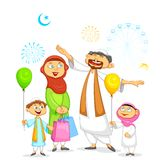 Muslim family celebrating Eid Stock Photo