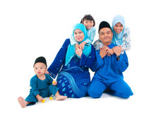 Muslim family. Indoor portrait of muslim family Royalty Free Stock Photos