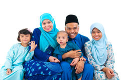 Muslim family. Indoor portrait of muslim family Royalty Free Stock Photography