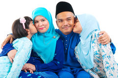 Muslim family. Indoor portrait of muslim family Royalty Free Stock Images