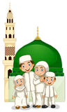 Muslim family royalty free illustration