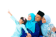 Muslim family. Looking to the side Royalty Free Stock Images