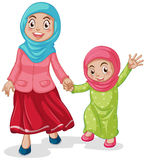 Muslim. Family mother and daughter Stock Photography