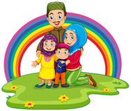 Muslim family Stock Images