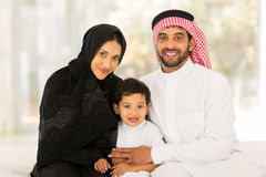 Muslim family sitting Royalty Free Stock Images