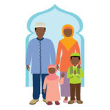 Muslim family. Vector illustration of muslim family Vector Illustration