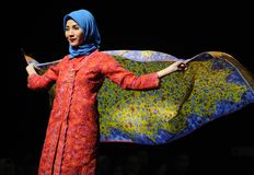 Muslim Fashion Festival in Indonesia Royalty Free Stock Photos