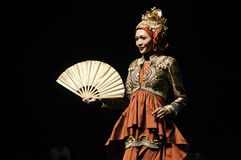 Muslim Fashion Festival in Indonesia Stock Images