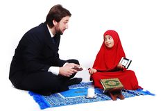 Muslim fasting activities in Ramadan month Royalty Free Stock Photos