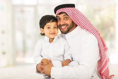 Muslim father little boy Stock Photography