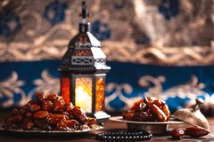 The Muslim feast of the holy month of Ramadan Kareem. royalty free stock photos