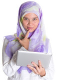 Muslim Female With Computer Tablet IX Stock Images