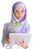 Muslim Female With Computer Tablet VIII Stock Photos