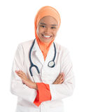 Muslim female doctor Stock Image