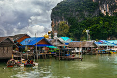 The Muslim Fishing Village on Koh Panyee, Thailand Royalty Free Stock Photography