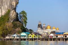 Muslim fishing village Stock Images