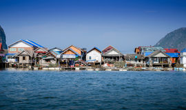 Muslim floating village at Panyee island Royalty Free Stock Photography
