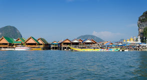 Muslim floating village, Panyee island, Phanga, Thailand Stock Photos