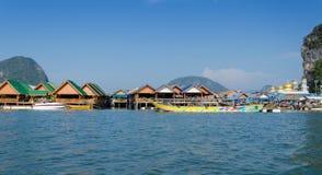 Muslim floating village, Panyee island, Phanga, Thailand Stock Photos