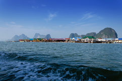 Muslim floating village at Panyee island, Phanga, Thailand Royalty Free Stock Photo