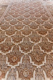 Muslim floral decoration. Muslim decoration in a wall plenty of ornaments stock image