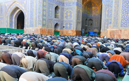 Muslim Friday mass prayer Stock Image