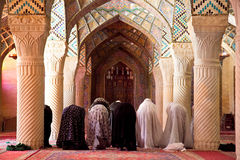 Muslim Friday pray in Prayer Hall Royalty Free Stock Image