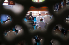 Muslim Friday prayer Tunahan mosque Turkey Stock Photo