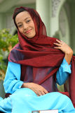 Muslim Gir  lEid al-Fitr Stock Photo
