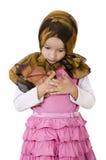 Muslim girl. Cute little muslim girl is praying Royalty Free Stock Photo