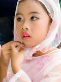 Muslim girl. Pretty Muslim girl dressing and wear scarf Stock Photography