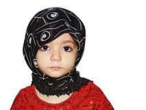 Muslim Girl. In a traditional Islamic scarf Royalty Free Stock Image