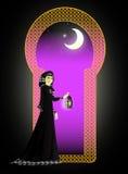Muslim girl in Abayah royalty free stock photos