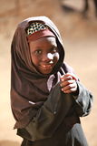 Muslim girl in Africa stock image