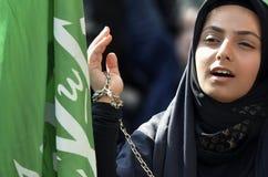 Muslim girl Ashura mourning Royalty Free Stock Images