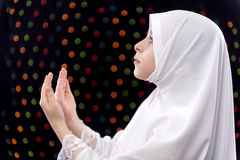 Muslim Girl Duaa Royalty Free Stock Photo