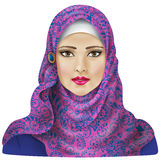 Muslim girl in hijab Royalty Free Stock Images