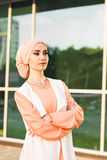 Muslim girl in hijab Stock Photography