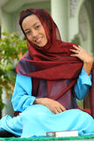 Muslim Girl Idul Fitri Royalty Free Stock Photography